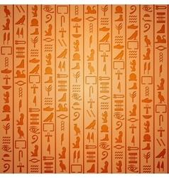 Egyptian hieroglyphics background vector