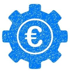 Euro development gear grainy texture icon vector