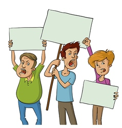group of protesters vector image