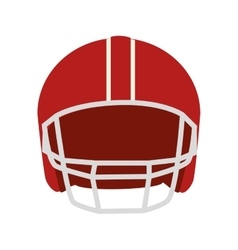 helmet american football icon vector image vector image