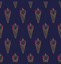 Ice cream easy pattern linear-29 vector