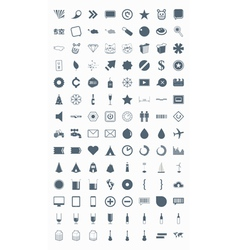 icons signs symbols and pictograms vector image vector image