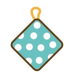 kitchen rag isolated icon vector image