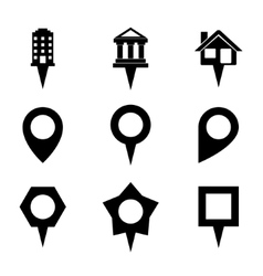 Landmark and showplace symbol map pointer mark vector