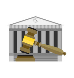 legitimate decision of court vector image