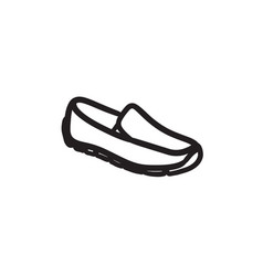 male shoe sketch icon vector image vector image