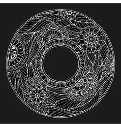 Mandala theme Floral wreath pattern with dots vector image vector image
