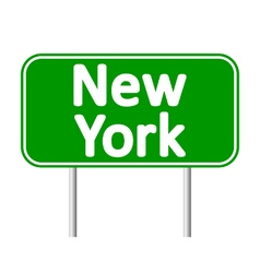 New york city green road sign vector