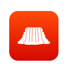 Niagara falls icon digital red vector