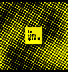 pop art seamless pattern yellow dots on black vector image