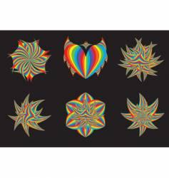 rainbow design elements vector image vector image