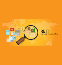 reit real estate investment trust money for home vector image vector image