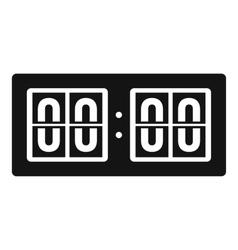 Scoreboard icon simple style vector