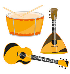 Several music instruments vector