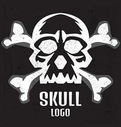 Skull logo Human skull vector image vector image