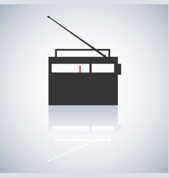 the radio icon vector image vector image