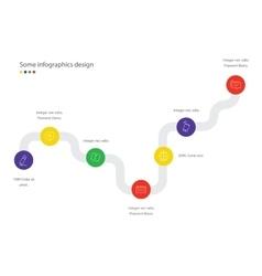 Timeline infographic scheme minimalistic vector