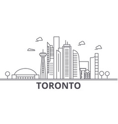 toronto architecture line skyline vector image vector image