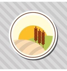 Wheat icon landscape design agriculture concept vector