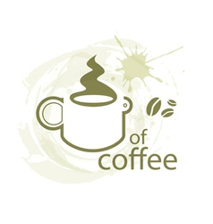 Coffee outline vector