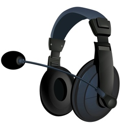 Black headphone vector