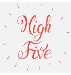 High five congratulations vector