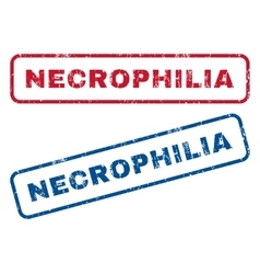 Necrophilia rubber stamps vector