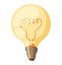Yellow light bulb isolated vector