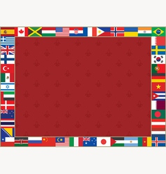 flags frame lily vector image
