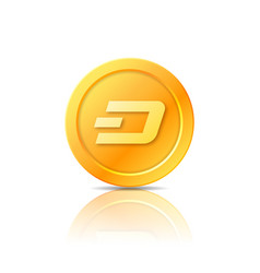 Dash coin symbol icon sign emblem vector