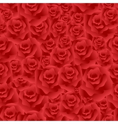 Seamless roses background vector image