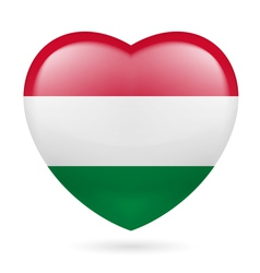 Heart icon of hungary vector