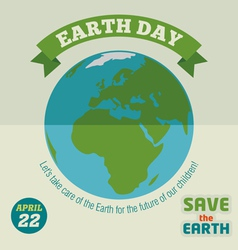 Earth day flat design poster vector