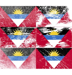 Flag of antigua and barbuda with old texture vector