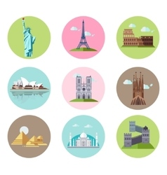 National sights and landmarks vector