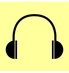 Headphones sign flat style icon vector