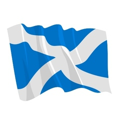 Flag of scotland vector