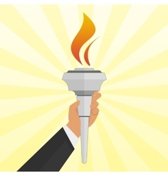 Torch in hand vector image