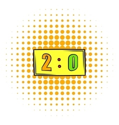 Score icon comics style vector image