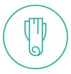 Leek line icon vector