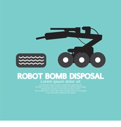 Robot Bomb Disposal vector image