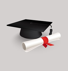 Black graduation cap vector