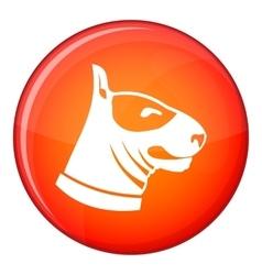 Bull terrier dog icon flat style vector
