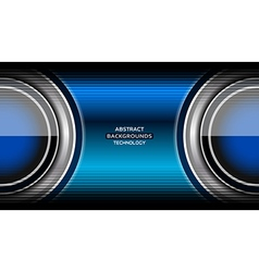 Circle blue abstract tech background vector