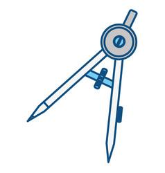 Compass geometry utensil vector