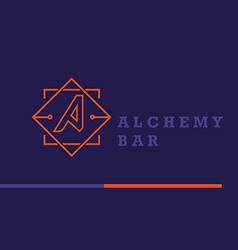 Creative logo on alchemy and unusual bar vector