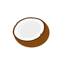 Delicious coconut fruit isolated icon vector
