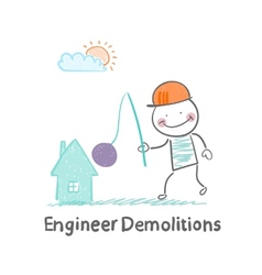 Engineer demolitions destroys home vector