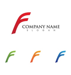 F letter faster the future logo vector