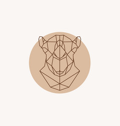 geometric of a head camel vector image